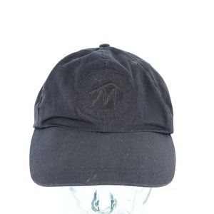 Vintage Marlboro Spell Out Leather Strapback Hat